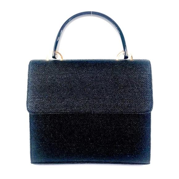 Preston & York Handbags - Vintage Preston& York Black Straw Handbag